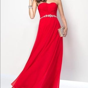 ALYCE PARIS RED FORMAL GOWN